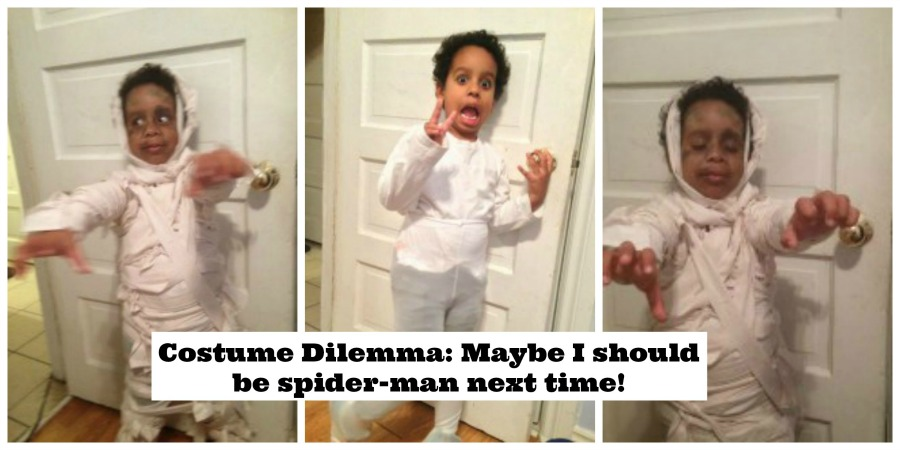 Costume Dilemma: Maybe I should be spider-man next time!