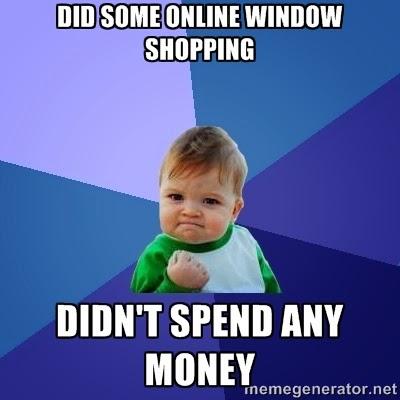 Confession of a window shopper: I'm not alone!