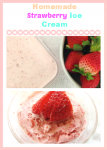 homemade strawberry ice cream