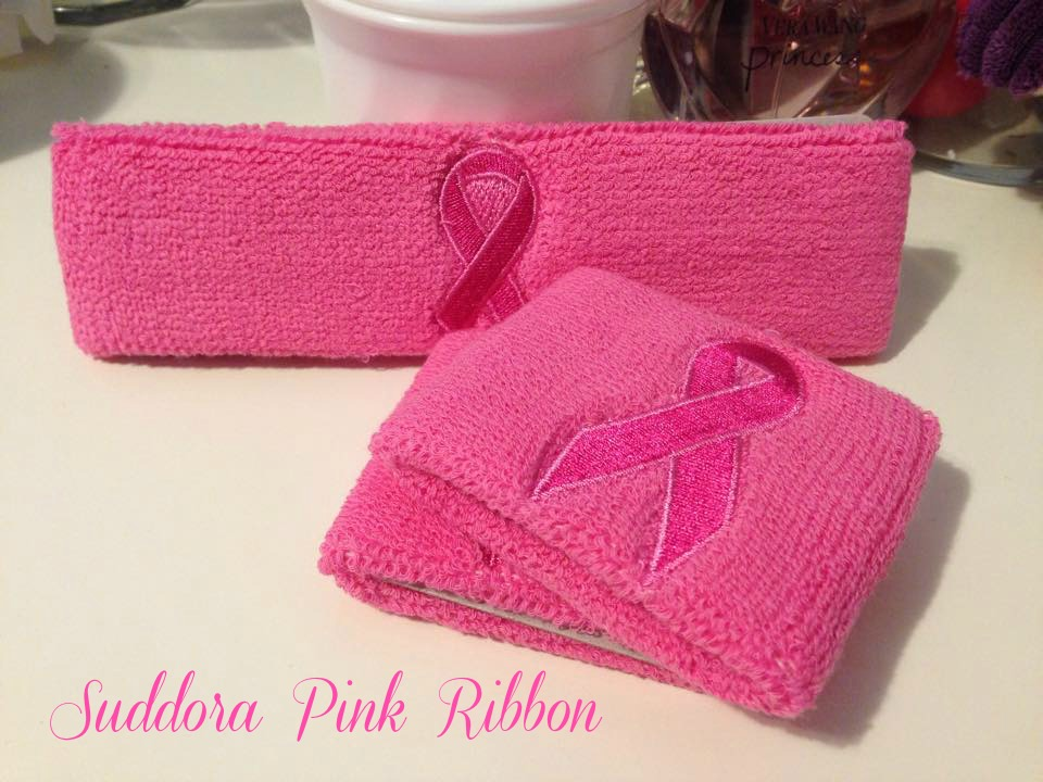 Suddora Pink Ribbon Sweatbands