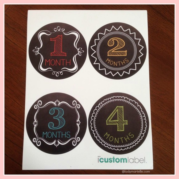 Chalkboard Baby Month Stickers Review