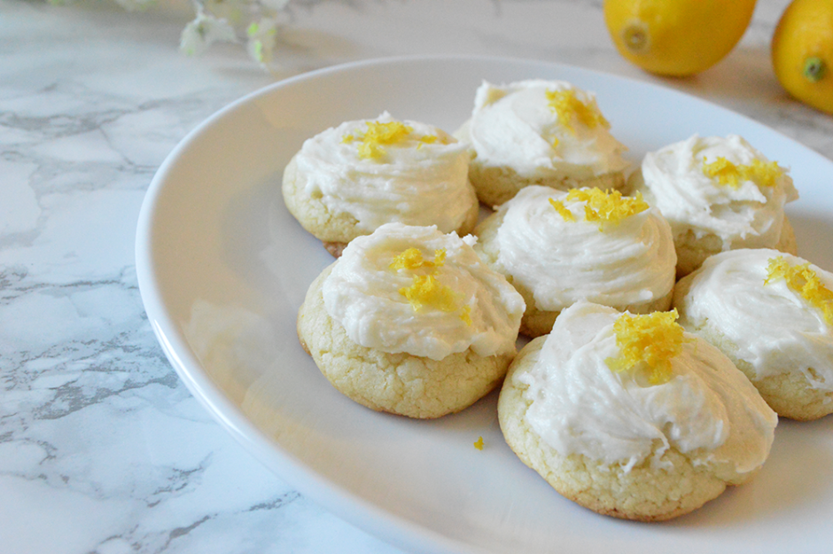 Lemon Cookies with Buttercream Topping