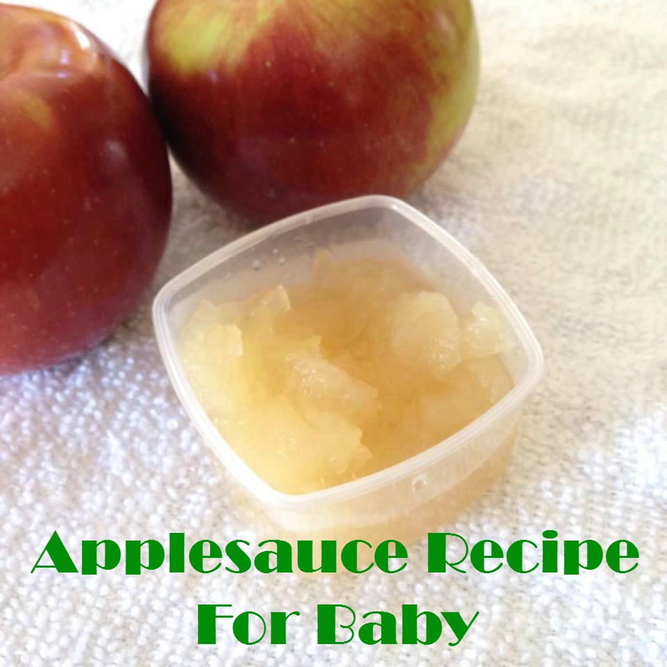 Making Baby Food Applesauce