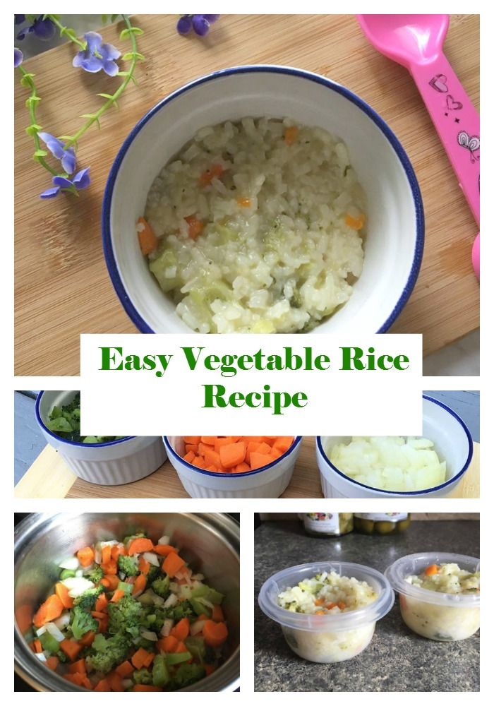 Baby Food Recipes: Easy Vegetable Rice Recipe