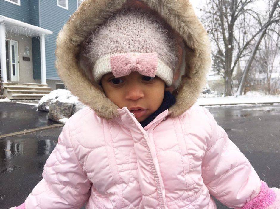 First Snow Through My Daughter's Eyes
