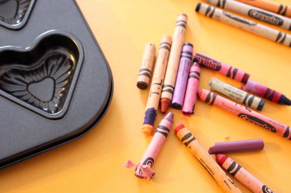 DIY Valentine's Day Heart Shaped Crayons - Getting Crafty With the Little Man