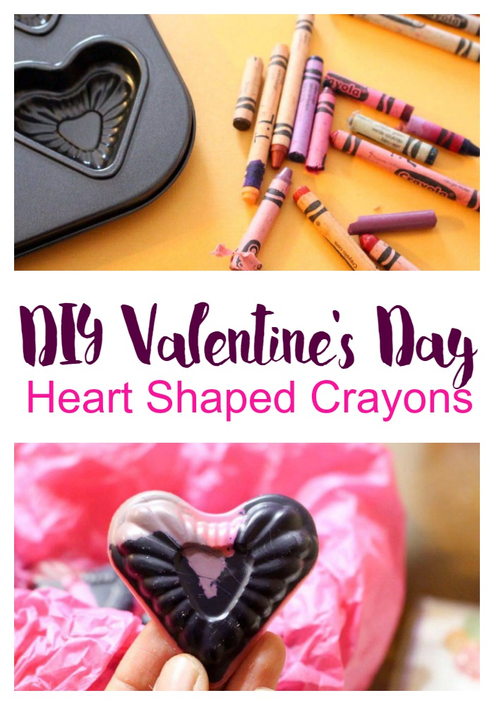 Grateful Sunday: DIY Valentine's Day Heart Shaped Crayons