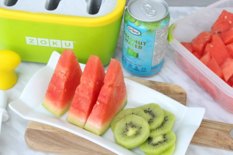 Watermelon Coconut Water Frozen Popsicle