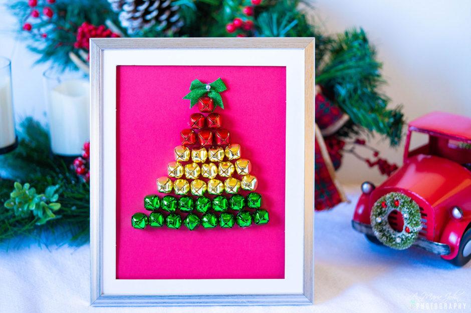 Christmas Tree Bells Shadow Box DIY