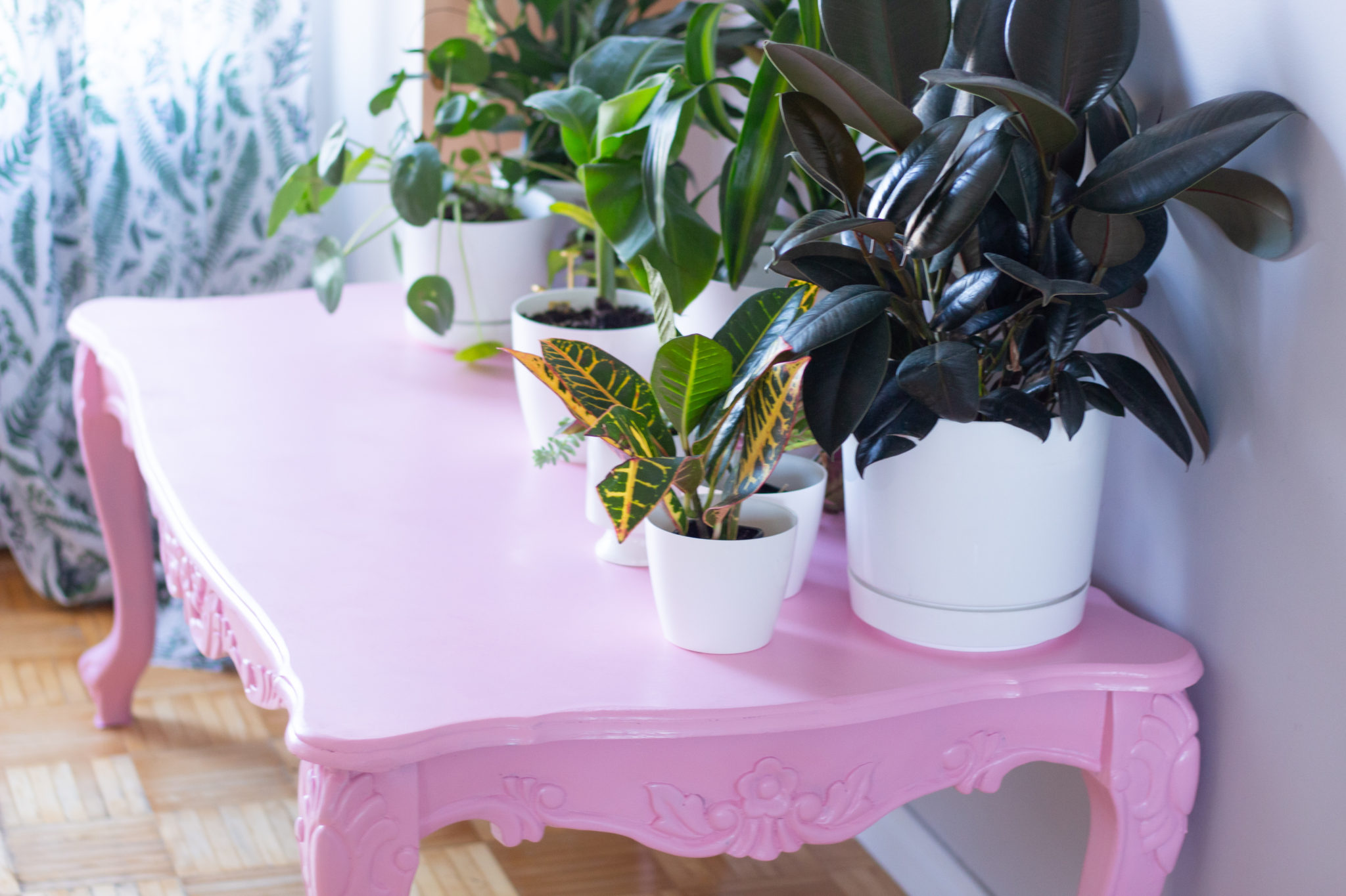 Pretty In Pink | Before & After Coffee Table Makeover