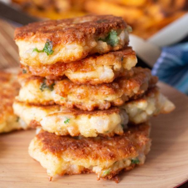Tasty Homemade Cheesy Shrimp Patties Recipe