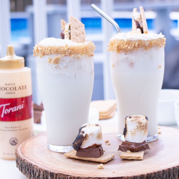 Easy Homemade S'mores milkshake Recipe
