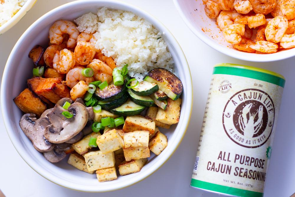Delicious Cajun Shrimp Buddha Bowl Recipe