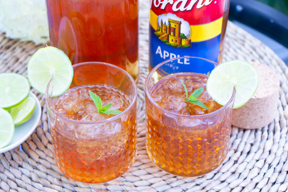 Morning Pick Me Up! | Apple Mint Iced Tea Recipe