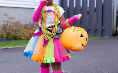 DIY 80's Inspired Toddler Costume