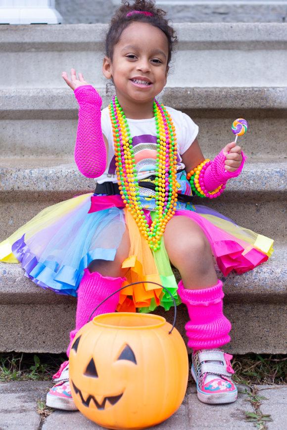 DIY 80's Inspired Toddler Costume