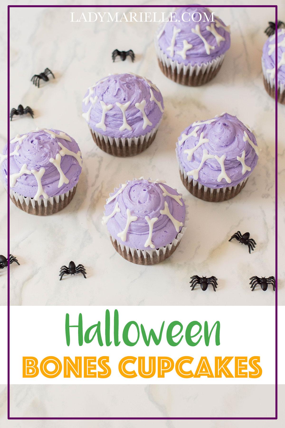 DIY Halloween Bones Cupcakes