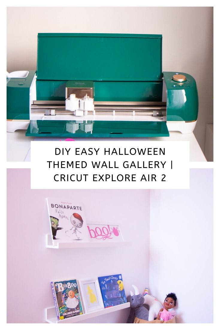 DIY Easy Halloween Themed Wall Gallery | Cricut Explore Air 2