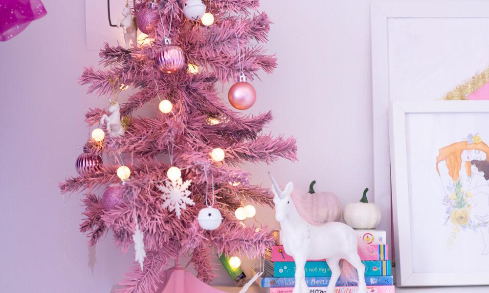 DIY Mini Pink Christmas Tree