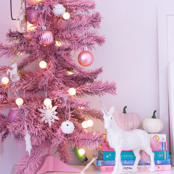 DIY Mini Pink Christmas Tree