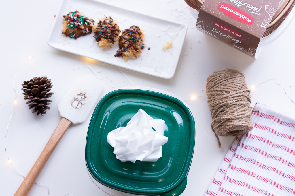 While the chocolate is still wet, add some sprinkles. This was Jazzy's favourite part of this recipe! She went wild lol. Enjoy your festive coconut macaroons!