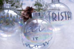 Super Simple DIY Personalized Christmas Ornaments | Cricut Explore Air 2
