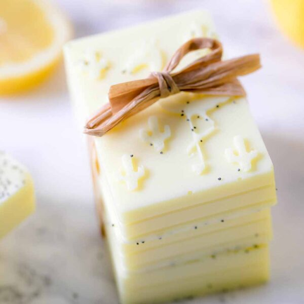 DIY Lemon Poppy Soap
