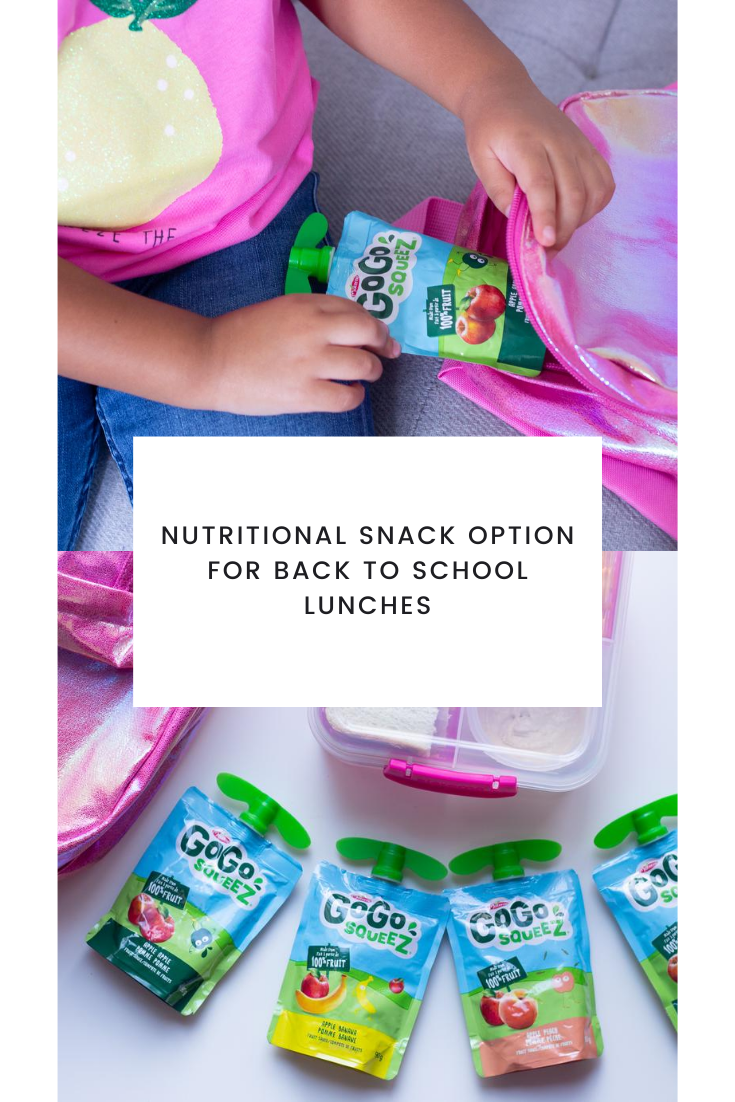 Nutritional Snack Option for Back To School Lunches