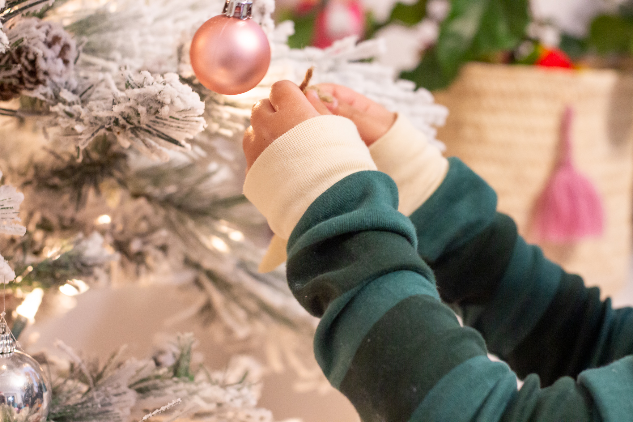 Girl hold Christmas ornament made out of salt dough
